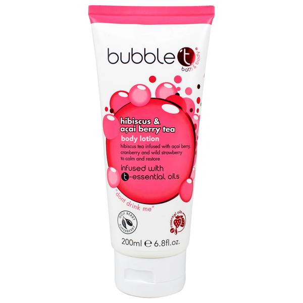 Bubble T Hibiscus and Acai Berry Tea Body Lotion (200ml)
