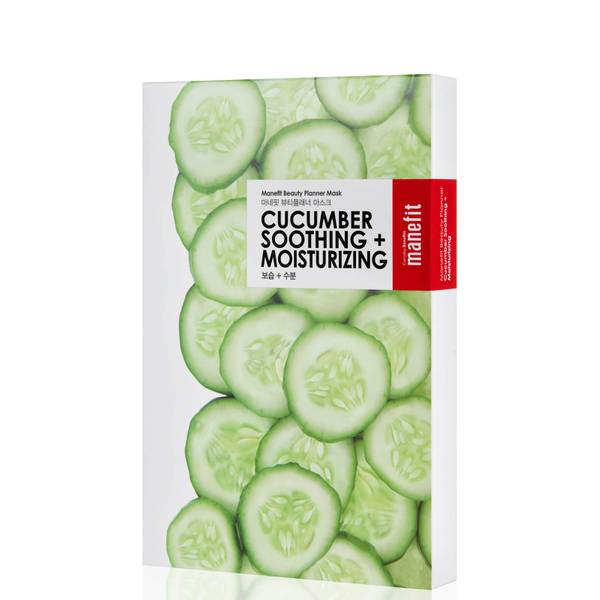 Manefit Beauty Planner Cucumber Soothing + Moisturizing Mask (Box of 5)