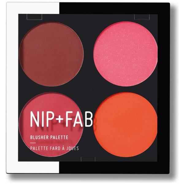 NIP+FAB Make Up Blusher Palette - Blushed Brights 02 15.2g