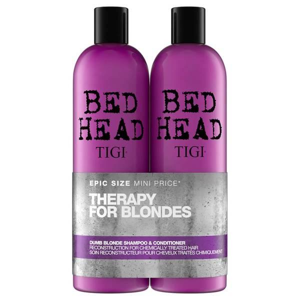 Shampoo Reparador para Cabelo Pintado Bed Head Dumb Blonde da TIGI 2 x 750 ml