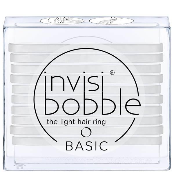 Goma de pelo elástica Basic de invisibobble - Crystal Clear (Pack de 10)