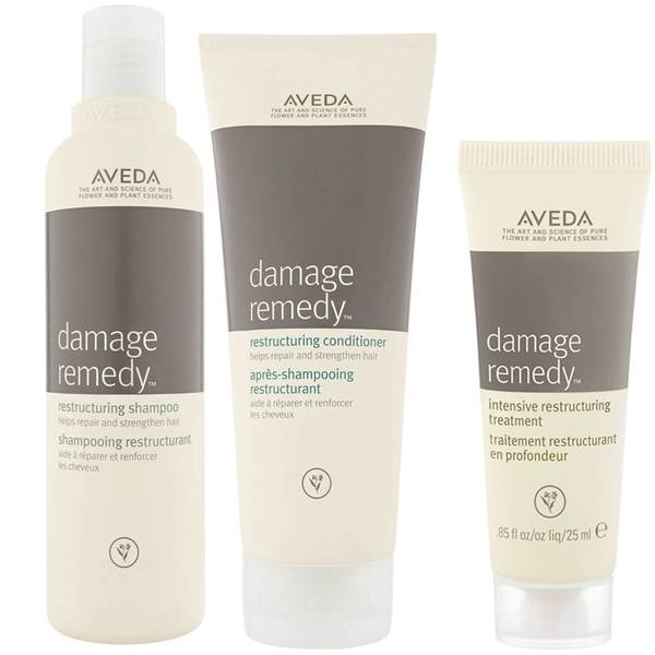 Aveda Damage Remedy Restructuring Shampoo and Conditioner Duo with Restructuring Treatment Sample