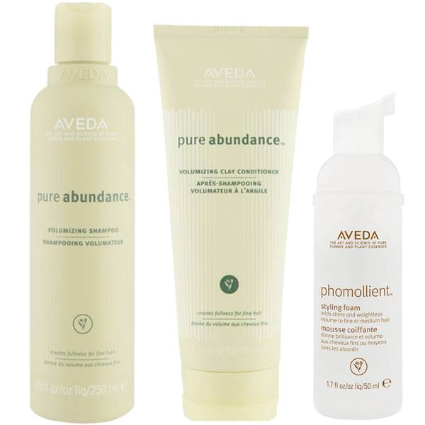 Aveda Pure Abundance Volumising Shampoo and Conditioner Duo with Styling Foam Sample