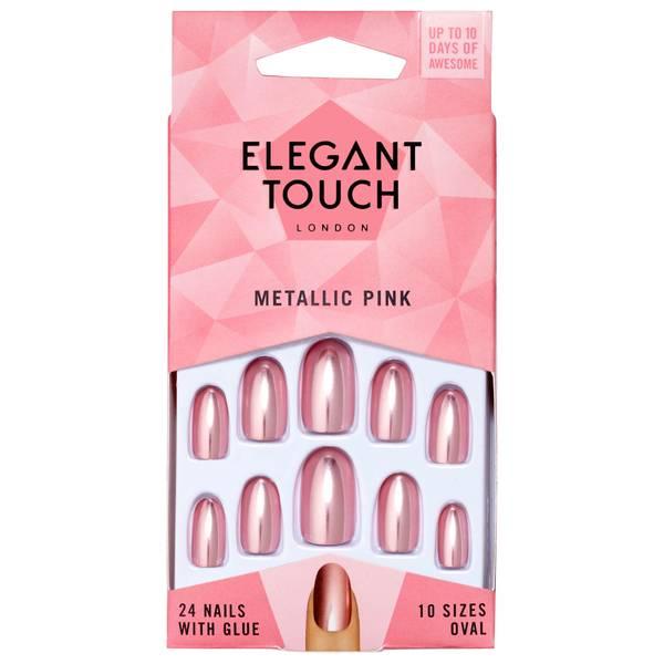Elegant Touch Colour Nails - Metallic Pink