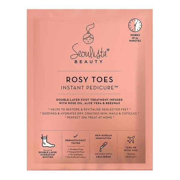 Маска для стоп Seoulista Beauty Rosy Toes Instant Pedicure