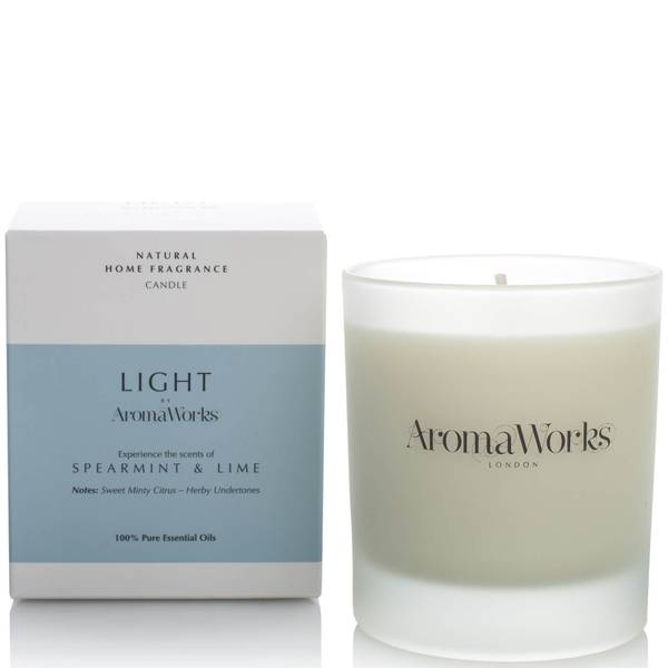AromaWorks Light Range Candle - Spearmint and Lime 30cl