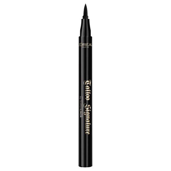 L'Oréal Paris Tattoo Signature 24HR Liquid Eyeliner -nestemäinen silmienrajausväri, 01 Xtra Black 12ml