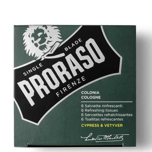 Proraso リフレッシング ティッシュー - サイプレス&ベチバー (6個パック)