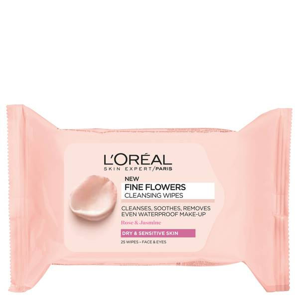 L'Oréal Paris Fine Flowers Sensitive Skin Cleansing Face Wipes x 25