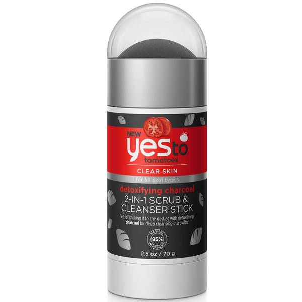 yes to Tomatoes Detoxifying Charcoal 2-in-1 Scrub & Cleanser Stick 70g