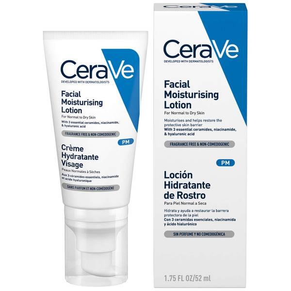 Loción facial hidratante sin SPF de CeraVe 52 ml