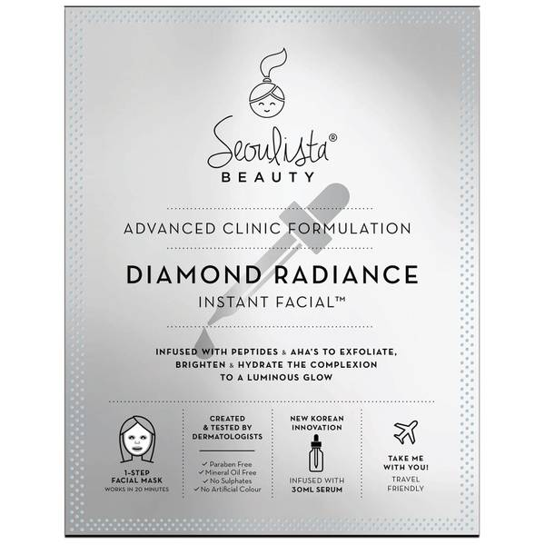 Тканевая осветляющая экспресс-маска Seoulista Beauty Diamond Radiance Instant Facial