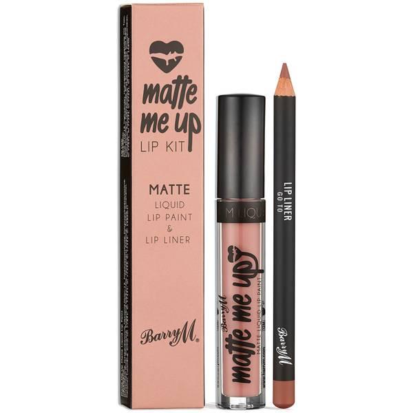 Barry M Cosmetics Matte Me Up Lip Kit -huulimeikkisetti (useita sävyjä)