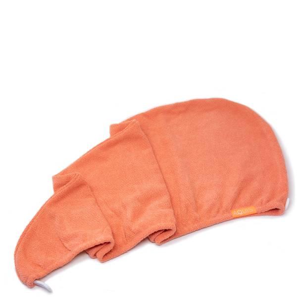 AQUIS Hair Turban Lisse Luxe - Tangerine Sunrise