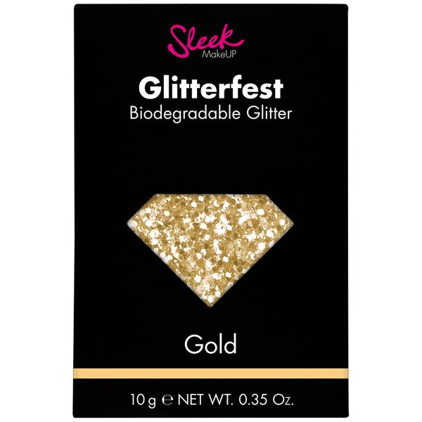 Sleek MakeUP Glitterfest Biodegradable Glitter brokat kosmetyczny – Gold 10 g