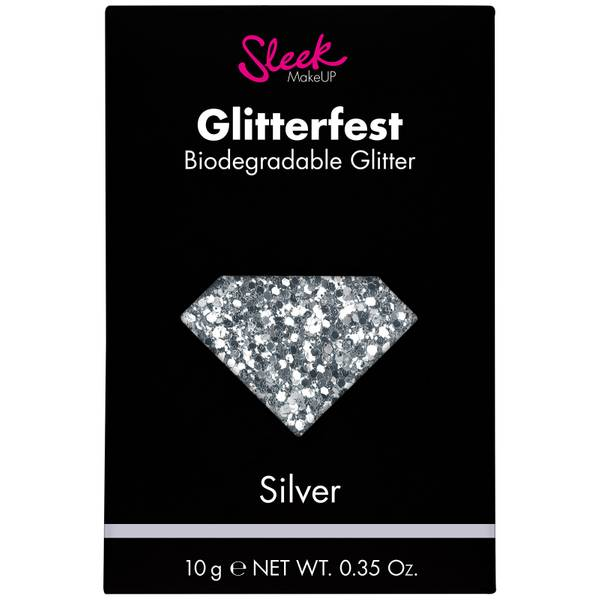 Sleek MakeUP Glitterfest Biodegradable Glitter(슬릭 메이크업 글리터페스트 바이오디그래더블 글리터 - 실버 10g)