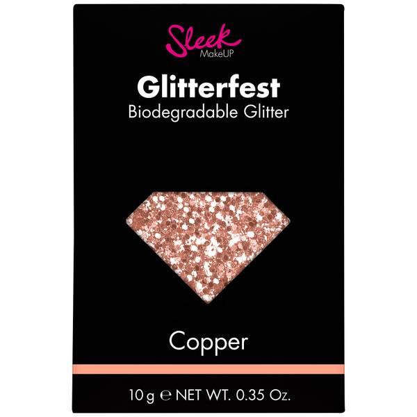 Sleek MakeUP Glitterfest Biodegradable Glitter brokat kosmetyczny – Copper 10 g