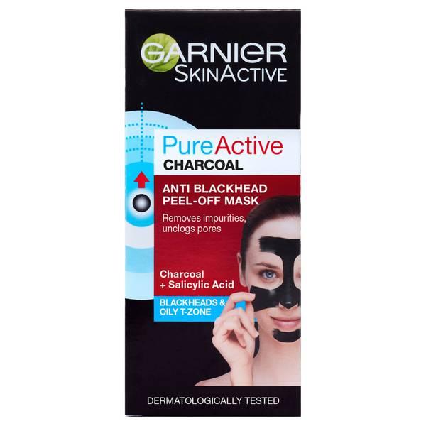 Mascarilla peeling de carbón antiespinillas Pure Active Anti Blackhead Charcoal de Garnier