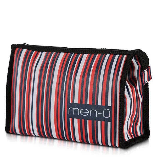 men-ü Stripes Toiletry Bag – Blue/Red/White