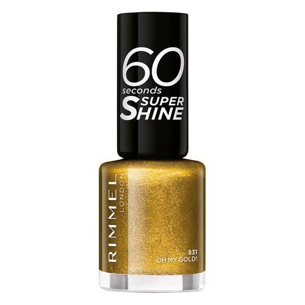 Rimmel 60 Seconds Glitter Nail Polish Oh My Gold -kimallekynsilakka