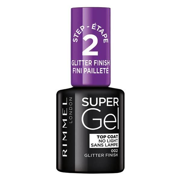 Rimmel Super Gel Top Coat -päällyslakka, Glitter Finish