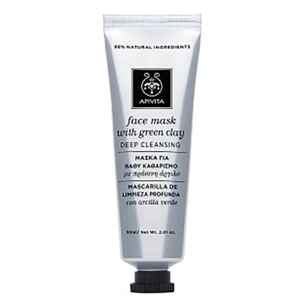 Mascarilla facial para limpieza profunda de APIVITA - Arcilla verde 50 ml