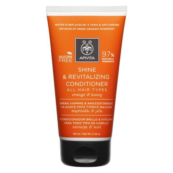 APIVITA Holistic Hair Care balsamo illuminante rivitalizzante con miele e arancia per tutti i tipi di capelli 150 ml