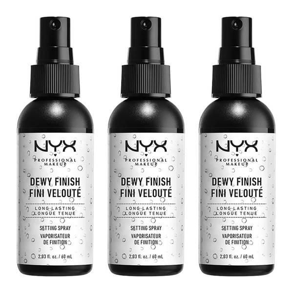 NYX Professional Makeup Dewy Setting Spray x 3