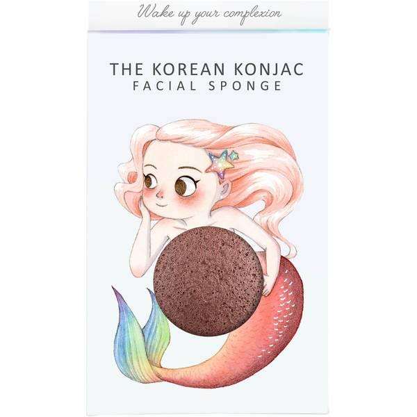 더 곤약 스펀지 컴퍼니 미티컬 머메이드 곤약 스펀지 박스 앤 후크 - 레드 클레이 (30g)