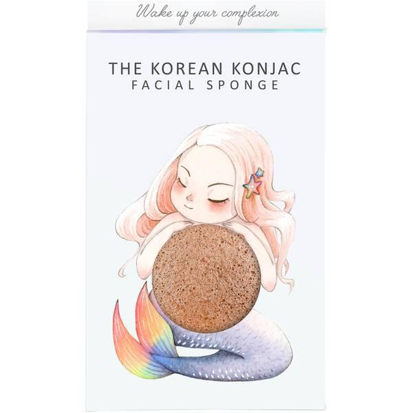 더 곤약 스펀지 컴퍼니 미티컬 머메이드 곤약 스펀지 박스 앤 후크 - 핑크 클레이 (30g)