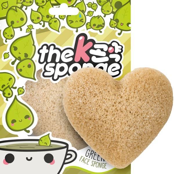 The Konjac Sponge Company K-Sponge Heart Sponge - Green Tea(더 곤약 스펀지 컴퍼니 K-스펀지 하트 스펀지 - 그린 티 12g)