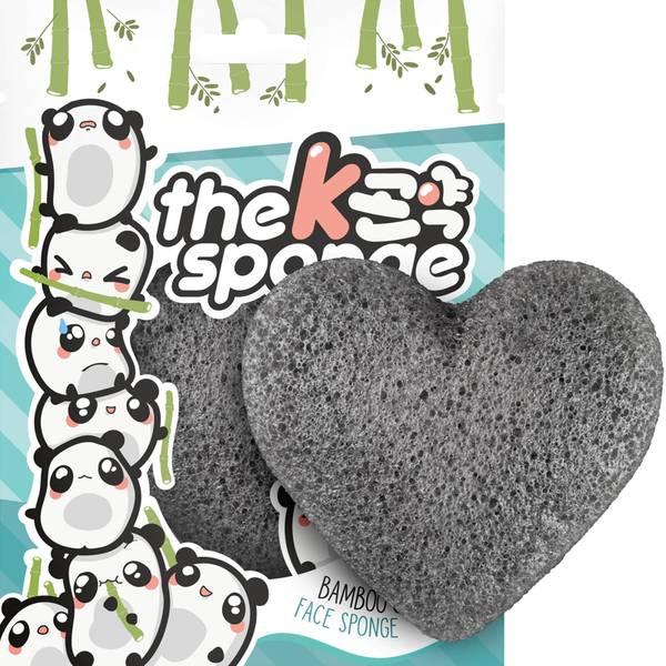 The Konjac Sponge Company K-Sponge Heart Sponge - Bamboo Charcoal(더 곤약 스펀지 컴퍼니 K-스펀지 하트 스펀지 - 뱀부 차콜 12g)
