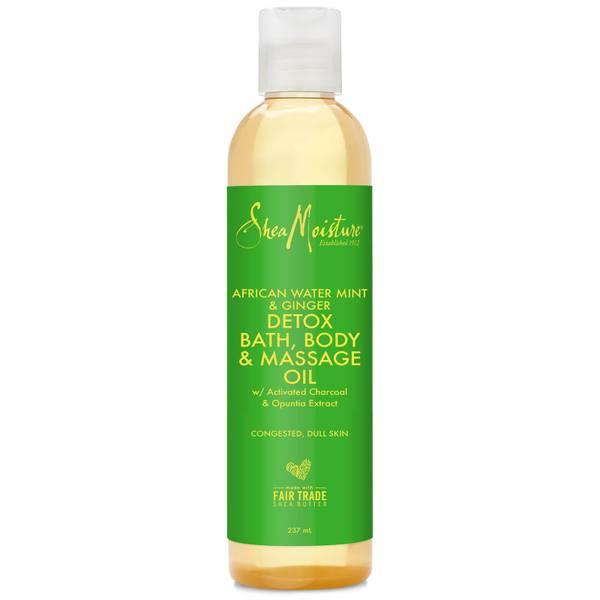 Shea Moisture African Water Mint & Ginger Detox Bath, Body & Massage Oil 237ml