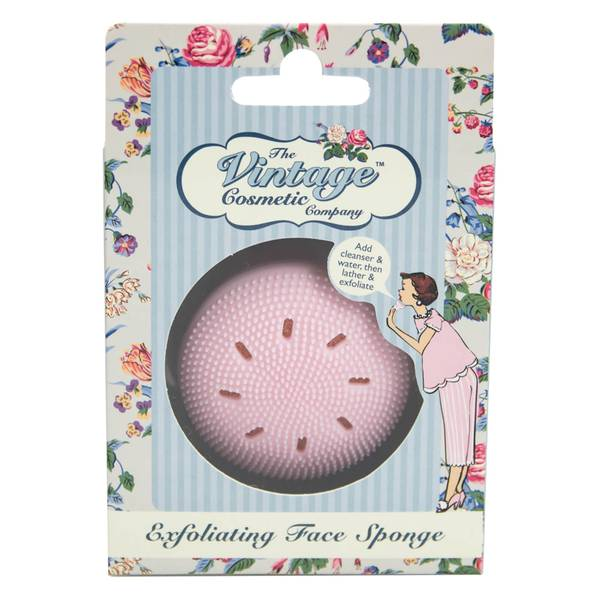 The Vintage Cosmetic Company Exfoliating Face Sponge - Pink