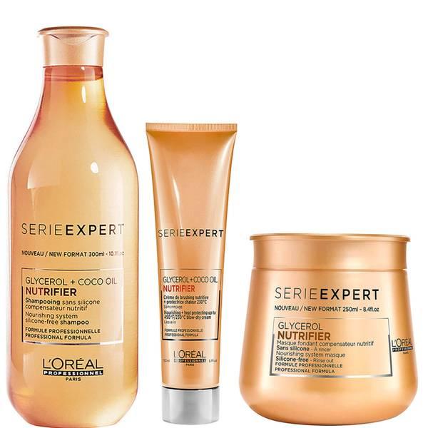 Trio de Shampoo, Máscara e Creme Expert Nutrifier da L'Oréal Professionnel Serie