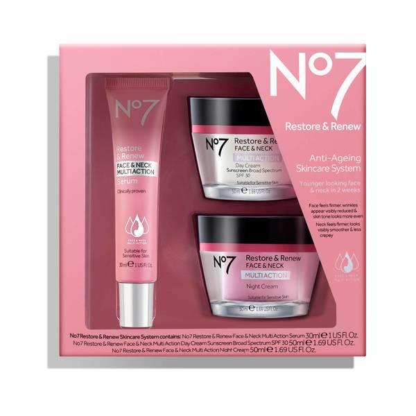 Restore & Renew Multi Action Face & Neck Skincare System