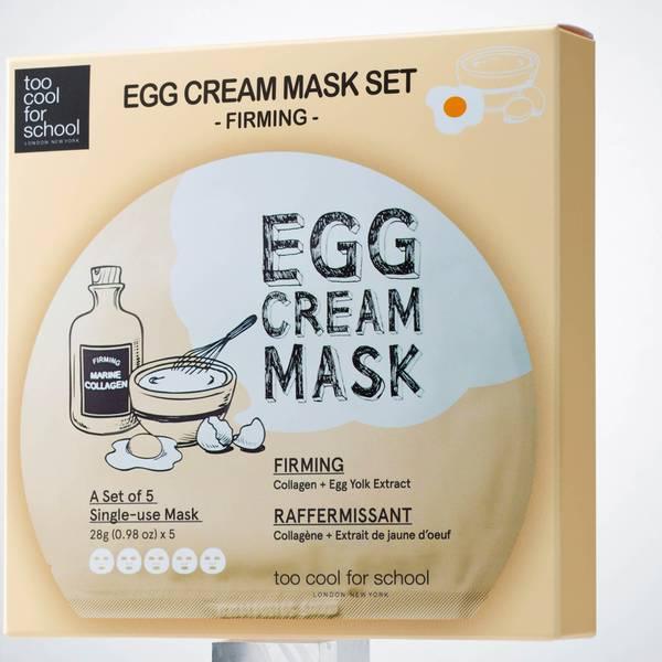 Too Cool For School Egg Cream Firming Mask Set (5 Masks)