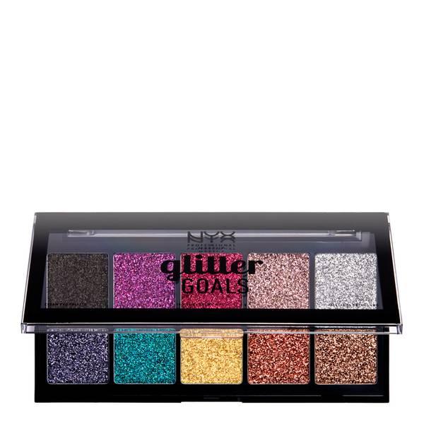 NYX Professional Makeup Glitter Goals Cream Quad Palette - Glacier