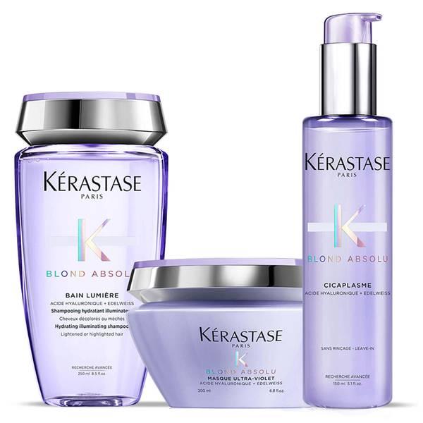 Kérastase Blond Absolu Bain Lumiere Shampoo, Treatment and Masque Trio -hiustenhoitosetti