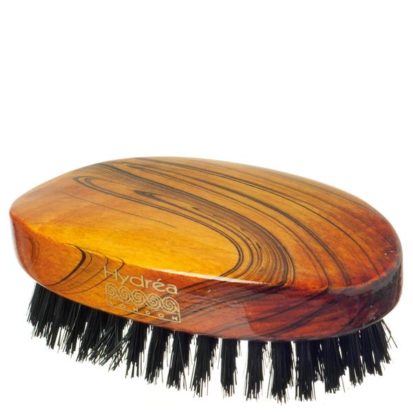 Hydrea London Military Hairbrush Gloss Finish with Pure Black Boar Bristle (hård styrka) FSC-certifierad