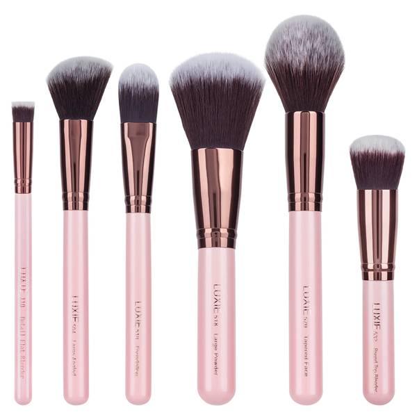 Luxie Rose Gold Face Essential Brush Set