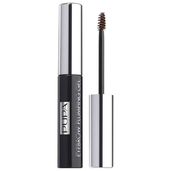 PUPA Eyebrow Plumping Gel Tinted Eyebrow Thickening and Fixing Gel - Brown