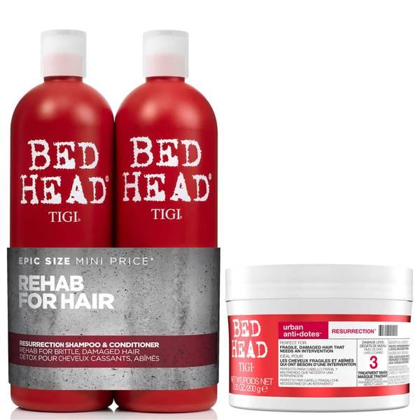 TIGI Bed Head Repair Shampoo, Conditioner and Hair Mask Set