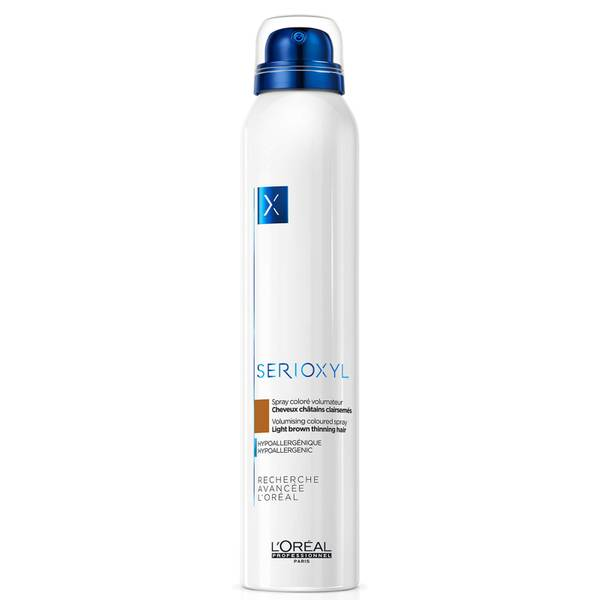 L'Oréal Professionnel Serioxyl Volumising Hair Fibre Spray - Light Brown 250ml