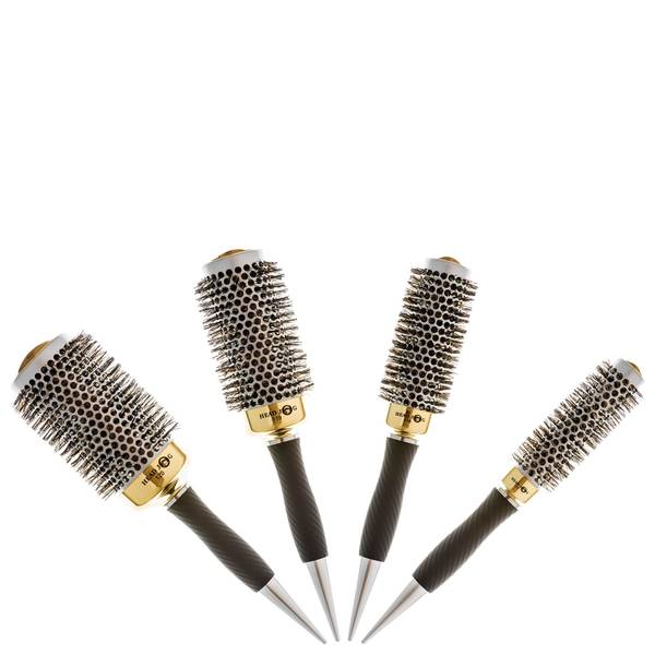 Head Jog Gold Thermal Brush Set