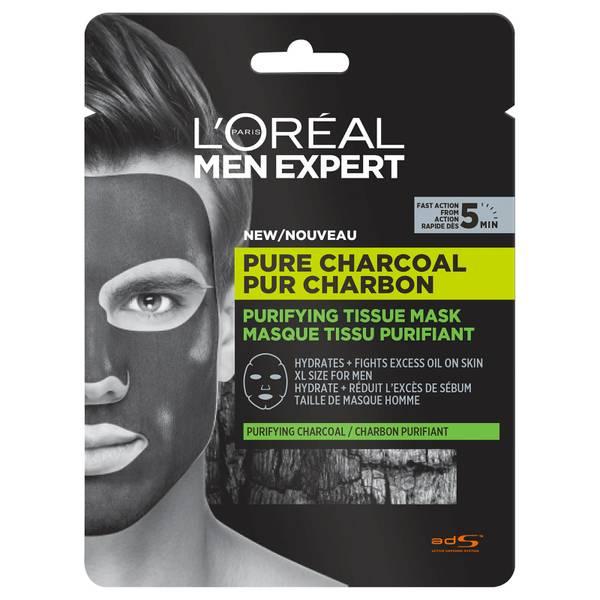 L'Oréal Paris Men Expert Pure Charcoal Purifying Tissue Mask 30g