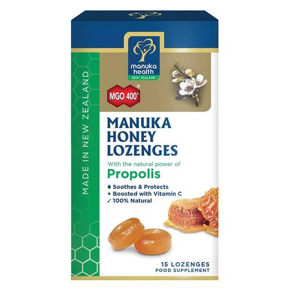 MGO 400+ Manuka Honey Lozenges with Propolis - 15 Lozenges