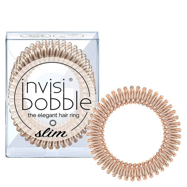 invisibobble Slim Elegant Hair Ties - Bronze (Pack of 3)
