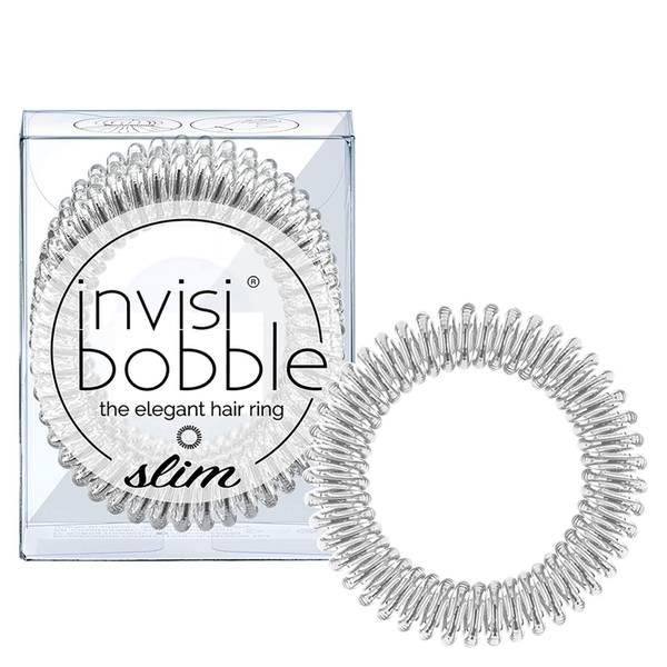 invisibobble Slim Elegant Hair Ties - Chrome (Pack of 3)