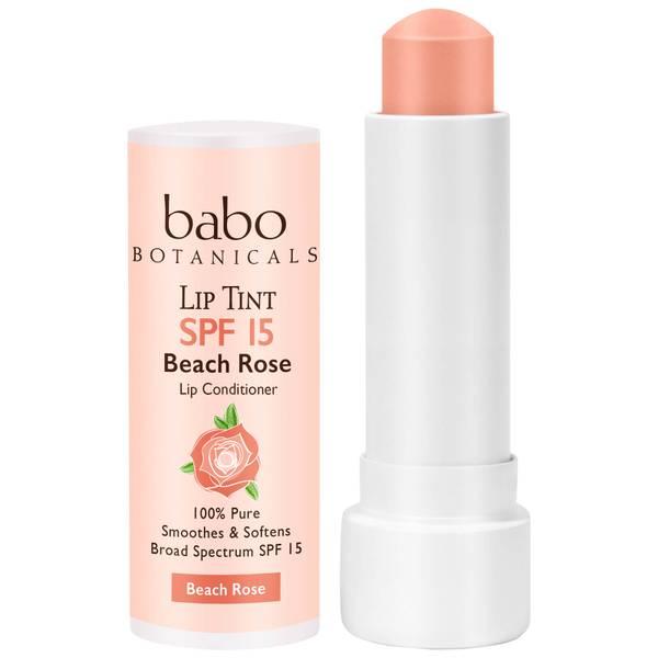 Babo Botanicals SPF15 Tinted Lip Conditioner - Beach Rose 0.15oz